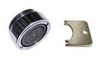 Vandal proof faucet aerator housing